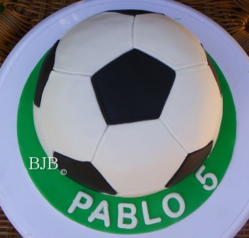 tarta balón de fútbol