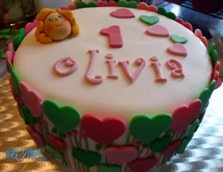 Hearts cake