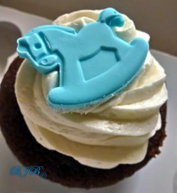 Cupcake baby blue
